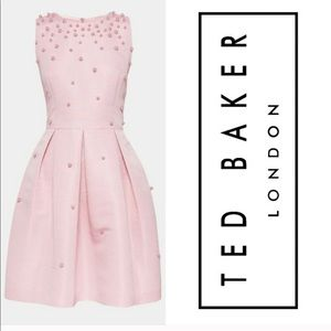 Ted Baker Tie The Knot Pearl Skater Dress